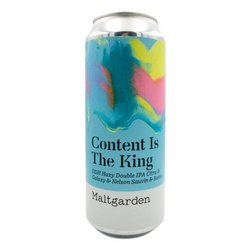 Maltgarden: Content Is The King - DDH Hazy Double IPA Citra & Galaxy & Nelson Sauvin & Rakau - puszka 500 ml