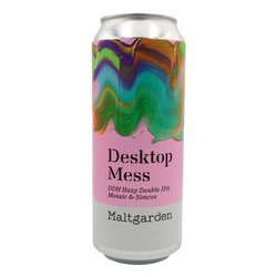 Maltgarden: Desktop Mess DDH Hazy Double IPA Mosaic & Simcoe - puszka 500 ml