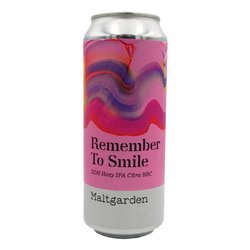 Maltgarden: Remember To Smile DDH Hazy IPA Citra BBC - puszka 500 ml